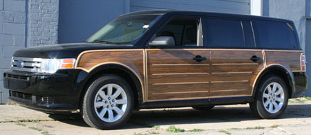 ... I think I want to bring back the suburban status symbol of a strip of  fake wood down the side of my car. Think it will catch on? Who is with me? - Wood Paneling WhiteEyebrows